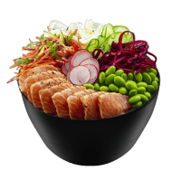 Poke Salmon Aburi